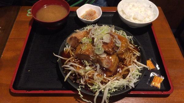 豚の角煮定食(肉ダブル)