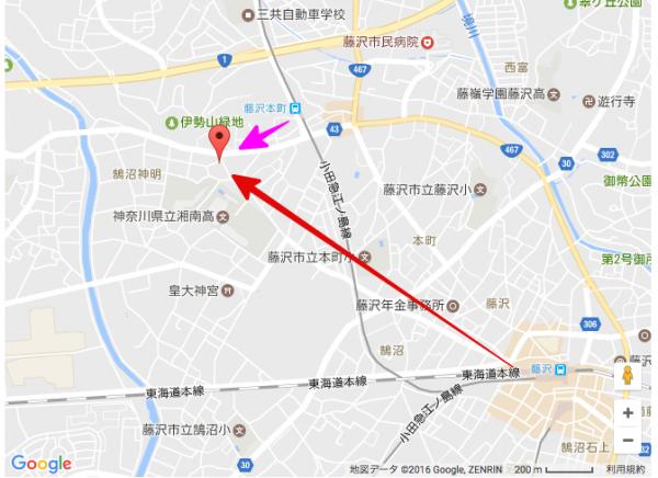 上州屋までの地図