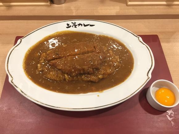 上等カレー横浜店で頼んだカツカレー