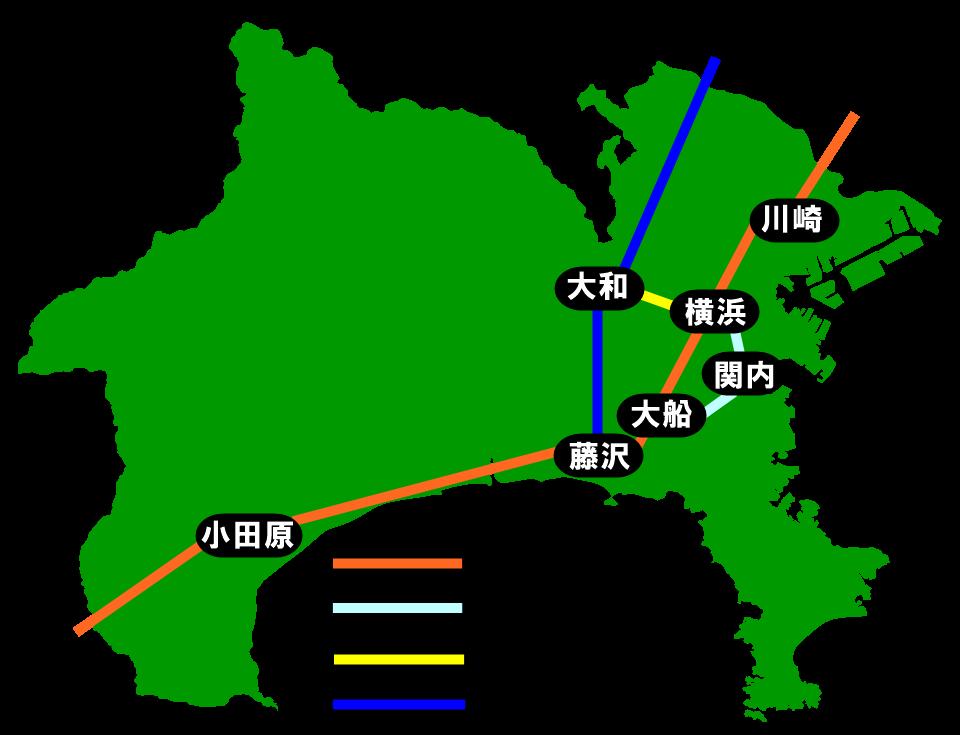 神奈川県全域メイド喫茶・コンカフェMAP
