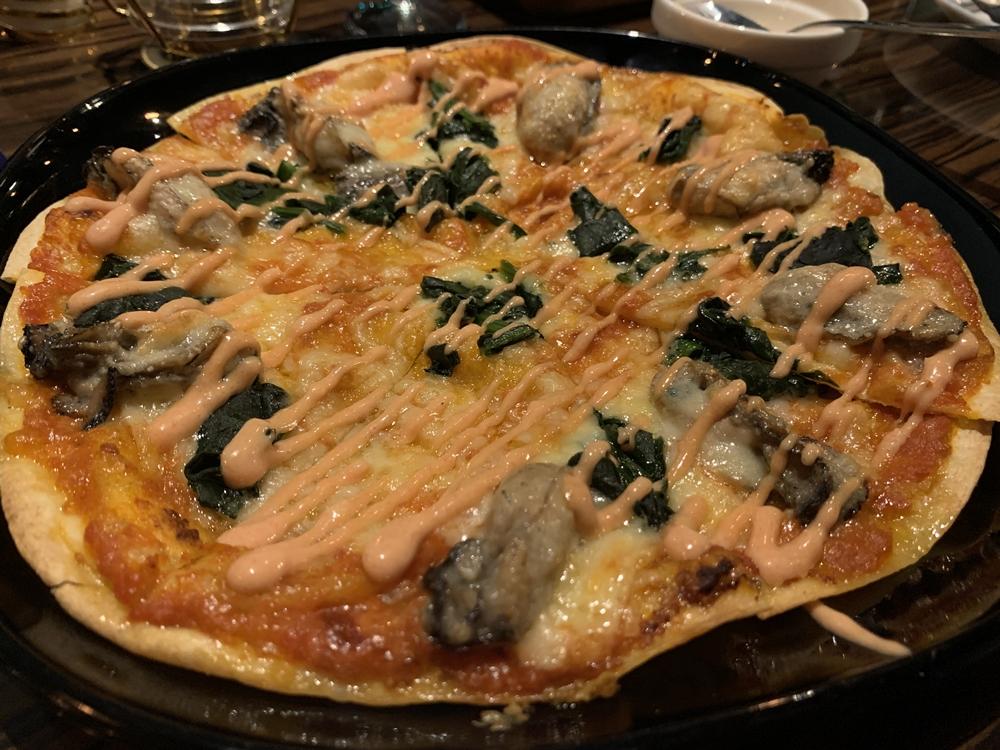 Dateで頼んだピザ